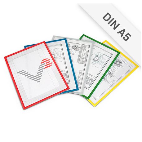 Infotaschen DIN A5 mit Ausschnitt