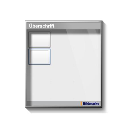Whiteboard in Schaukasten