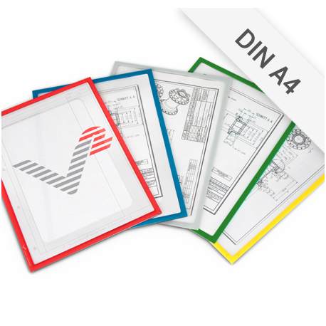 Infotaschen DIN A4 mit Ausschnitt