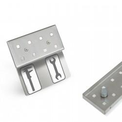 Werkzeugleiste magnetisch mit Beschriftungsleiste 4 Lochpaare