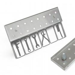 Werkzeugleiste magnetische Anbringung 8 Lochpaare