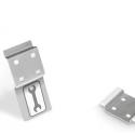 Werkzeugleiste Lochplatte Werkzeugwand selbstklebend 2 Lochpaare - mit Stickerleiste - VE 2Stk.