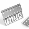 Werkzeugleiste Lochplatte Werkzeugwand selbstklebend 6 Lochpaare - mit Stickerleiste - VE 2Stk.
